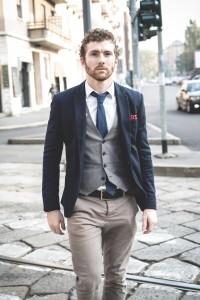 elegant attractive fashion hipster man lifestyle