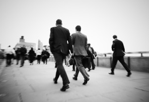 Gentlemen On Their Way To Work