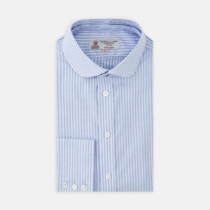 http://turnbullandasser.co.uk/informalist-navy-and-white-stripe-cotton-shirt-with-detachable-collar