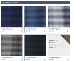 引用:http://www.dormeuil.com/fr/collection/la-collection-en-details/best-sellers/iconik-tropical/
