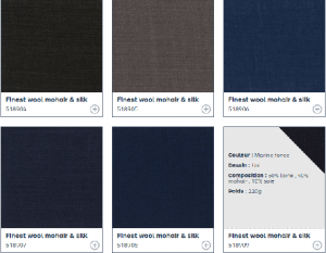 引用:http://www.dormeuil.com/fr/collection/la-collection-en-details/best-sellers/mohairs/