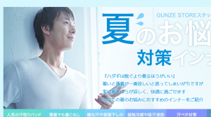 (引用: http://www.gunze-store.jp/campaign/ssinnerman?ac_event_click=pick_m_ssinner)