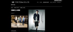 引用:http://www.fivefoxes.co.jp/brand/comme-ca-men.html