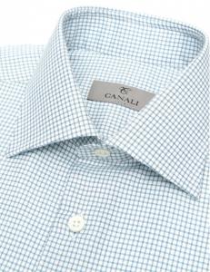 引用: http://www.canali.com/en_gb/clothing/cotton-dress-shirt-with-green-and-blue-micro-checks-718gd00609801.html