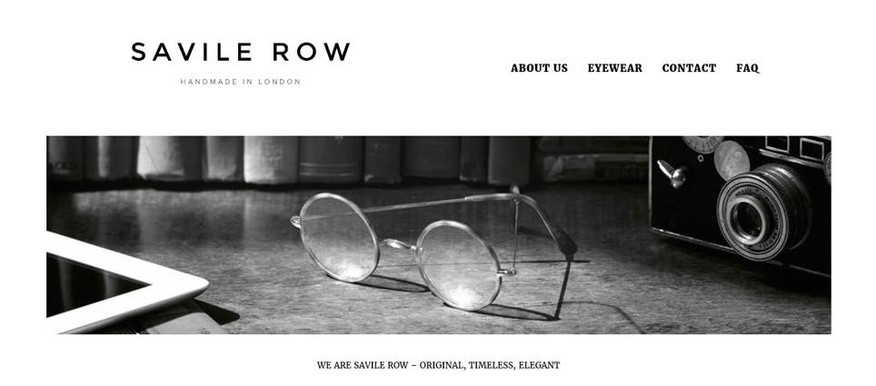 クラシックなアーティストメガネならクラプトン愛用のサヴィル・ロウ