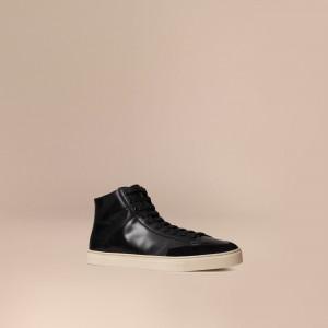 引用:https://jp.burberry.com/embossed-check-high-top-leather-trainers-p39810891