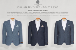 (引用: http://www.next.co.uk/men/tailoring/standalone-jackets/10)