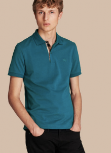 引用: https://jp.burberry.com/check-placket-cotton-pique-polo-shirt-p39955061
