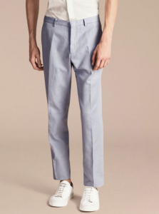 引用: https://jp.burberry.com/slim-fit-cottonlinen-trousers-p40380241